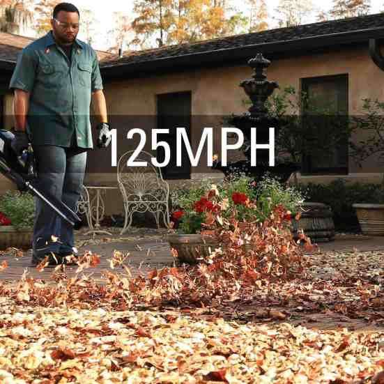 Greenworks leaf blower with 125mph