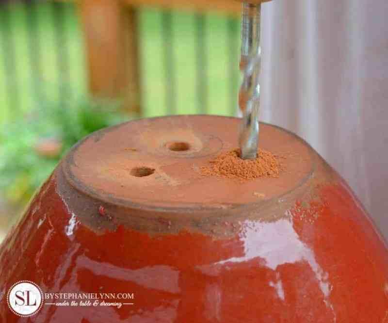 Drill drainage holes