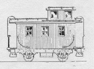 This Sketch Shows The Bobber Type Cabooses Built By S Of Southern Beginning Around 1897 Or So And Numbered X421 X446