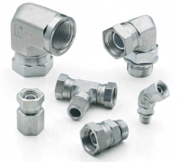Parker 3507 | 45 Straight Thread Pipe Swivel Elbow