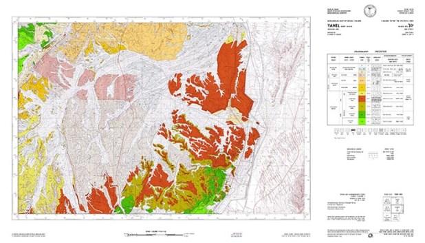 מפה גיאולוגית יהל