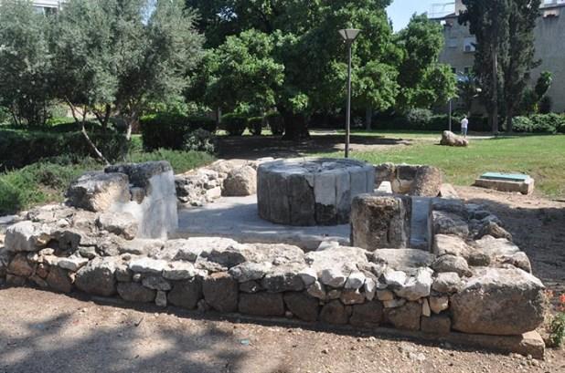 הגת המשוחזרת בגן משה