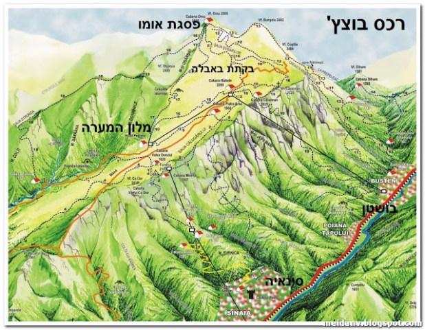 מפה רומניה סינאיה - בוצץ