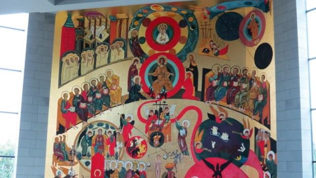 ציור קיר אותודוקסי-דרום אמריקאי בכנסייה קתולית