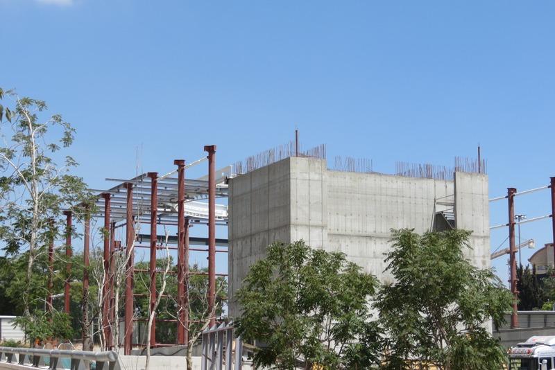 תחנת האומה - בבניה