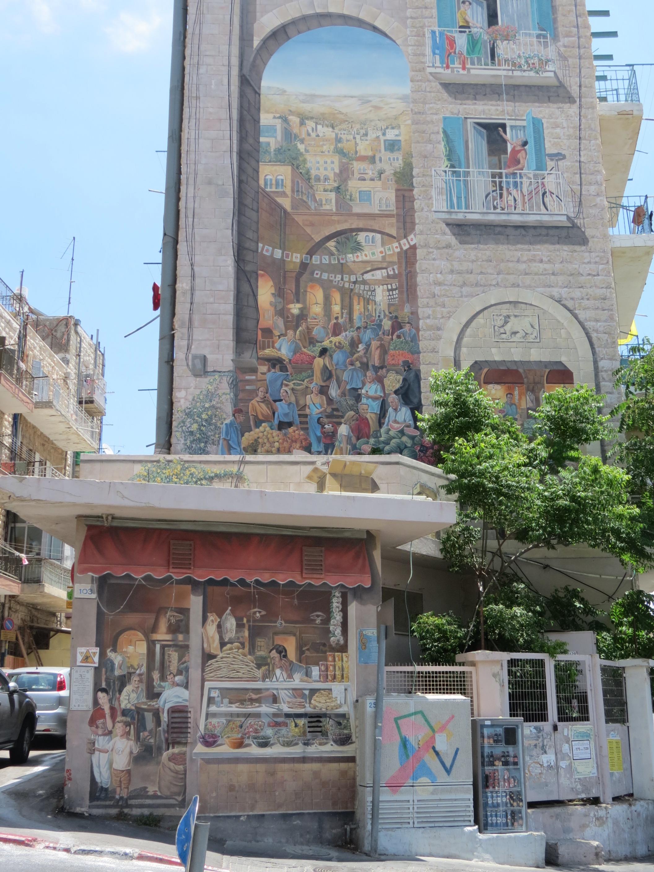 ציורי קיר בשוק ברחוב אגריפס