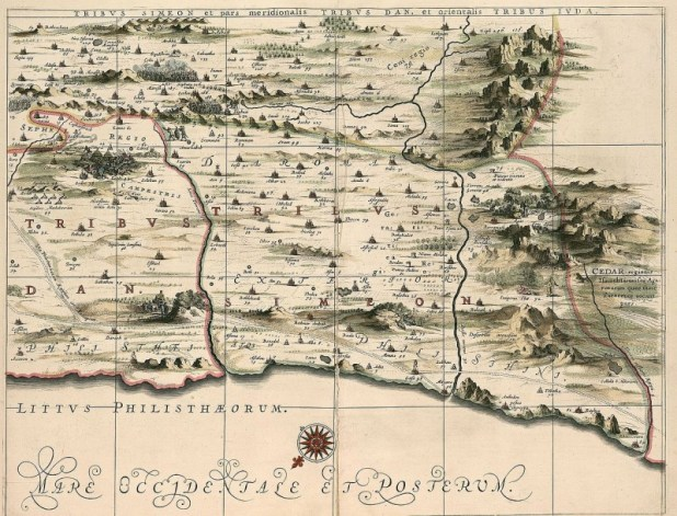מפה של שבט שמעון משנת 1658 The Eran Laor Collection of the National Library of Israel