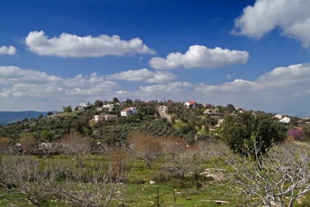 היישוב הקהילתי מכמנים על הר כמון צילום: יוצרNoam Armonn
