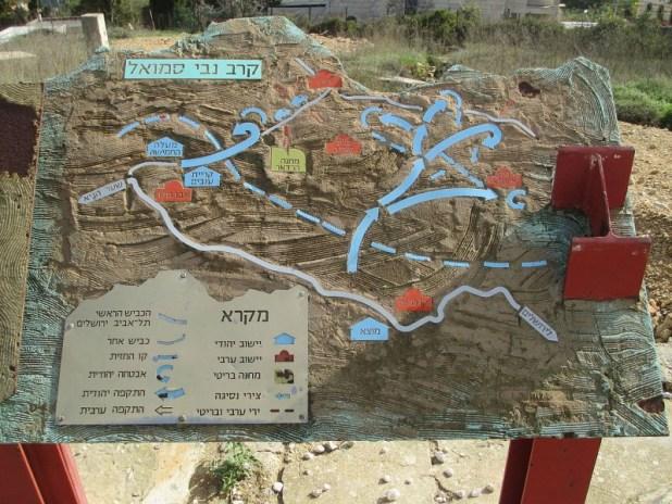 מפת קרב נבי סמואל בגבעת הרדאר צילום:Avi1111 dr. avishai teicher
