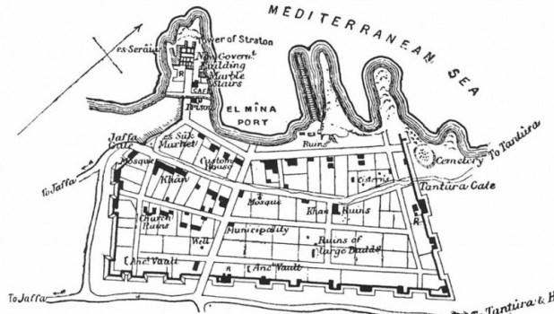 מפת קיסריה שהוכנה על ידי גוטליב שומאכר