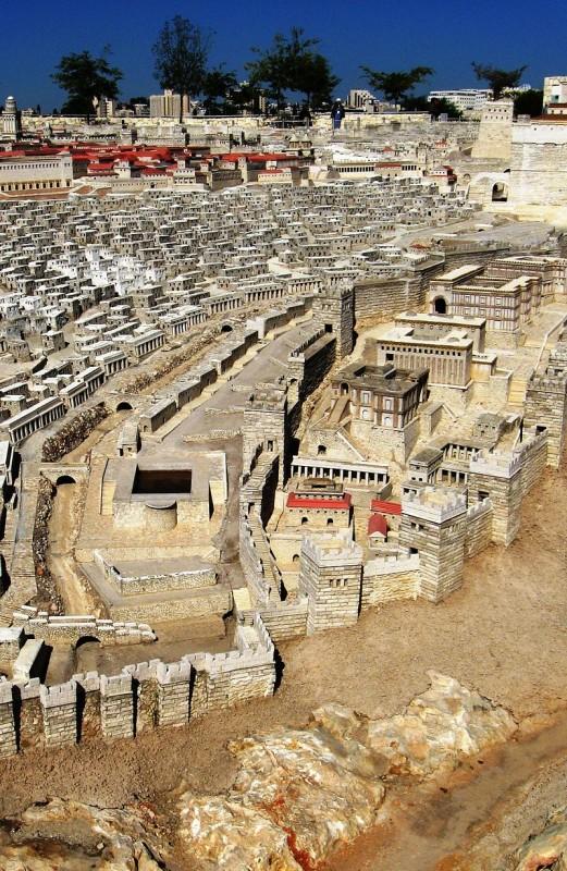 עיר דוד, מתוך דגם ירושלים בסוף ימי בית שני יוצר: דניאל ונטורה
