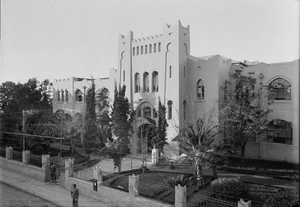 מבנה הגימנסיה הישן, 1936 לערך