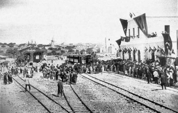 הרכבת הראשונה נכנסת לירושלים, ספטמבר 1892