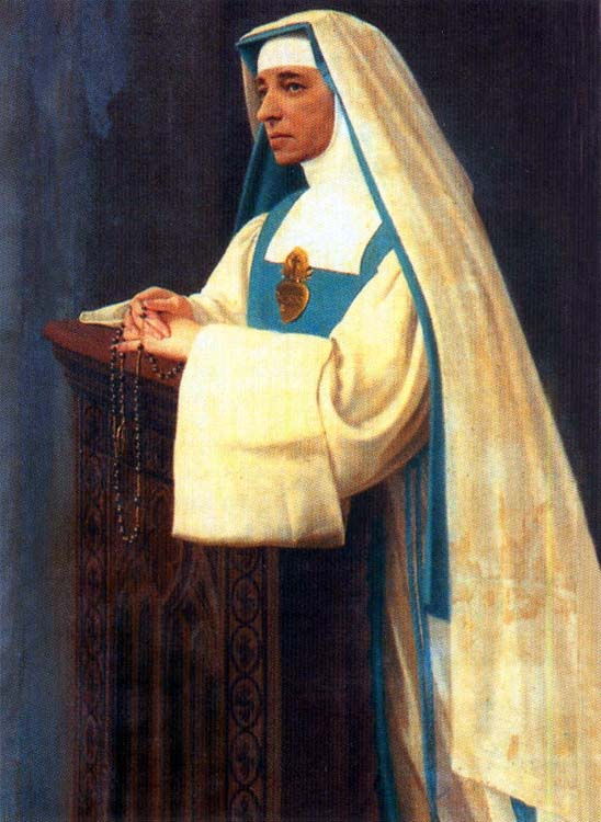 Émilie d'Oultremont, founder of the institute, with the dress of her congregation