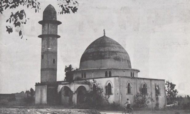 המסגד בנס ציונה לפני שנהרס הצריח