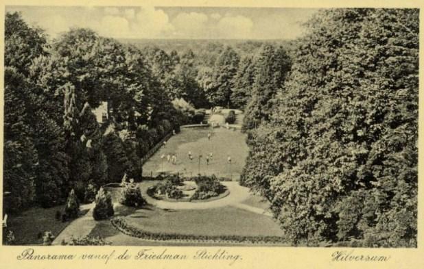 Postcard of the Friedman Foundation in Hilversum, ca. 1930