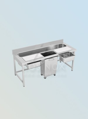 sink with cutting table HOSINOX