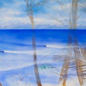 引き続き波と海を描き込みます。