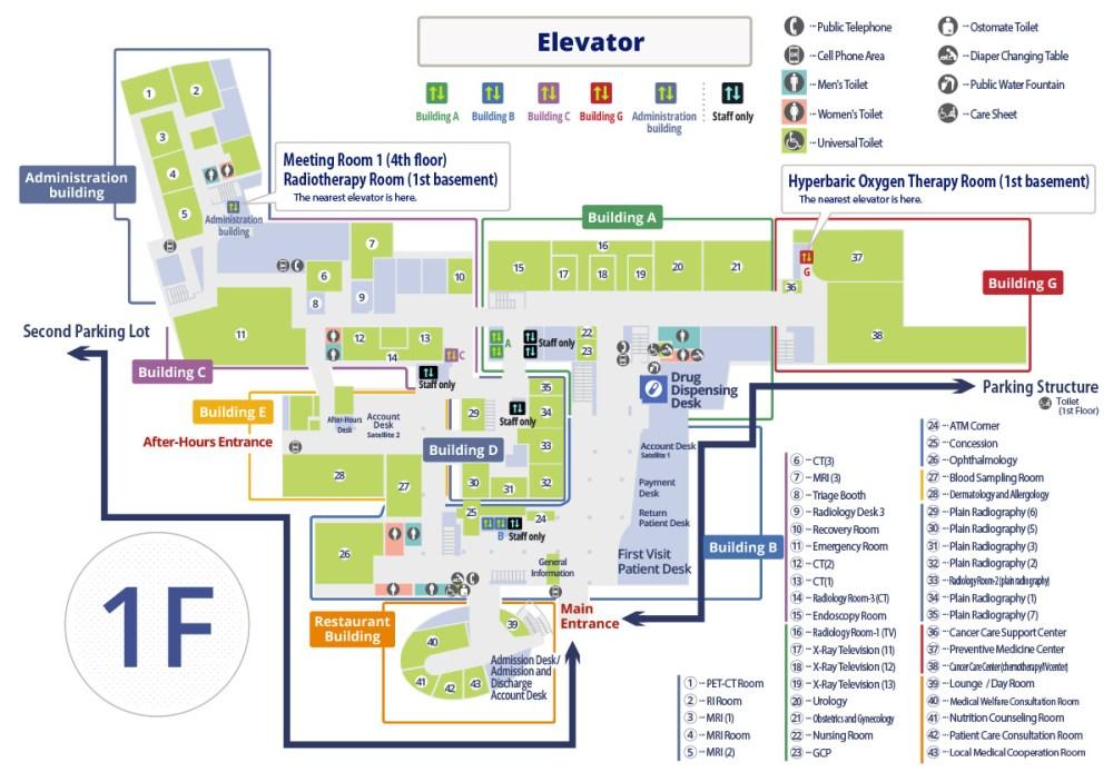 medium resolution of hospital floor map