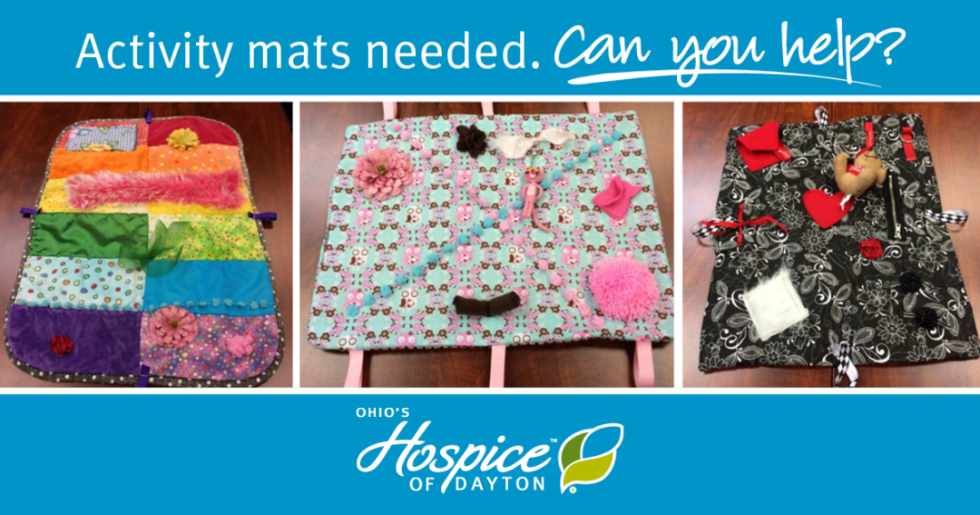 Activity mats needed. Can you help?