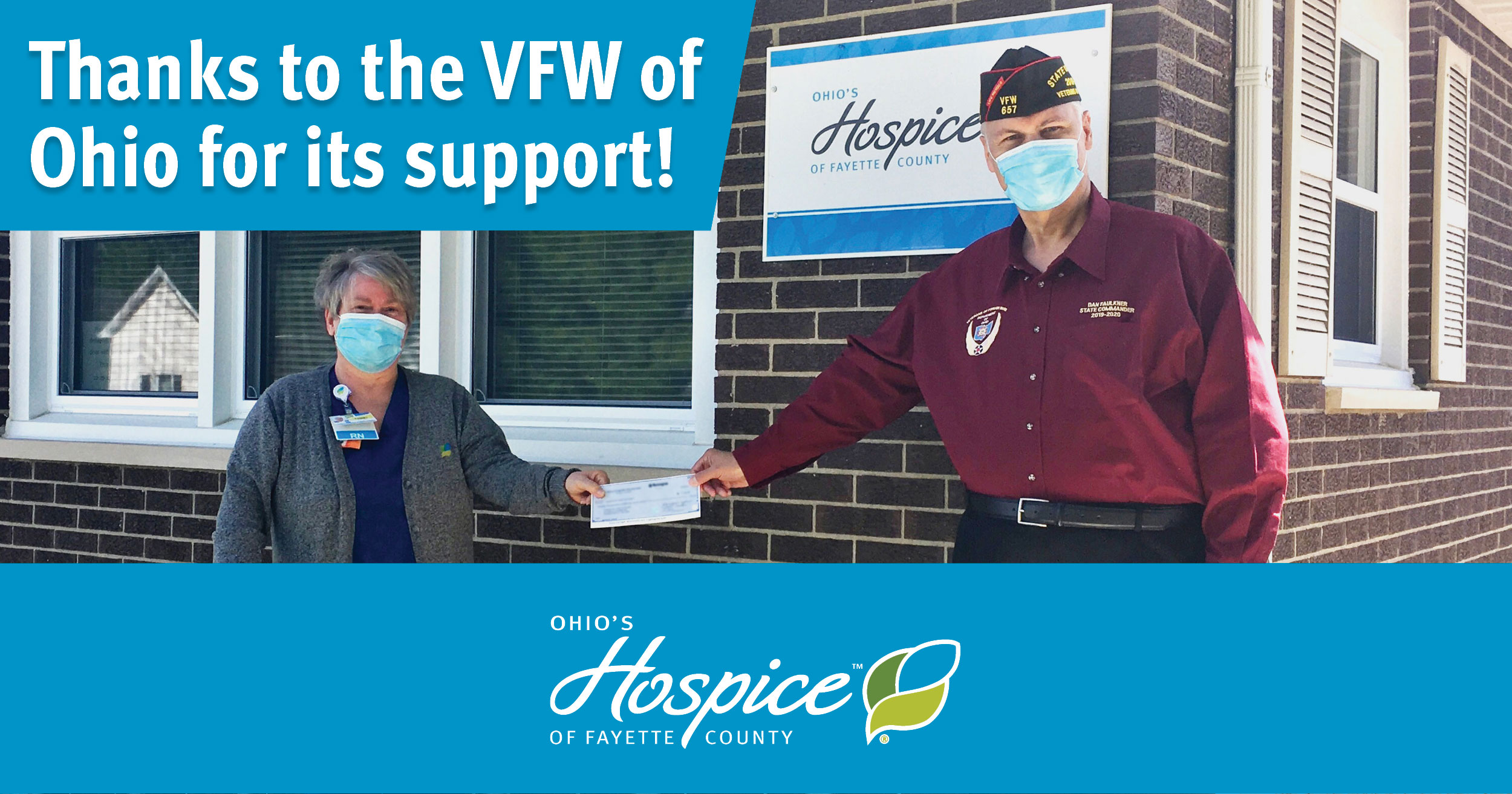 VFW Awards Grant To Ohio's Hospice Of Fayette County