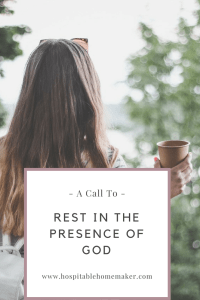rest in the presence of God
