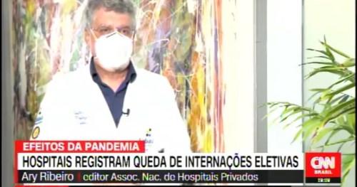 Dr. Ary Ribeiro – CEO do Sabará Hospital Infantil-  é entrevistado pela TV CNN Brasil