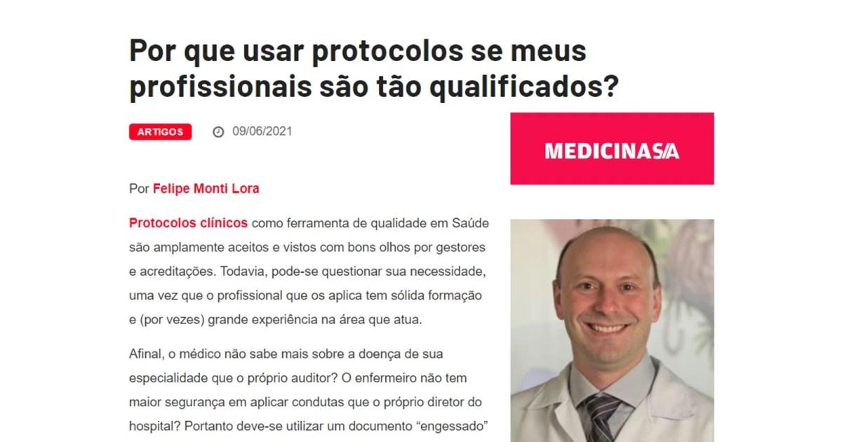 Dr. Felipe Lora, gerente médico e pediatra do Sabará Hospital Infantil, fala sobre protocolos clínicos