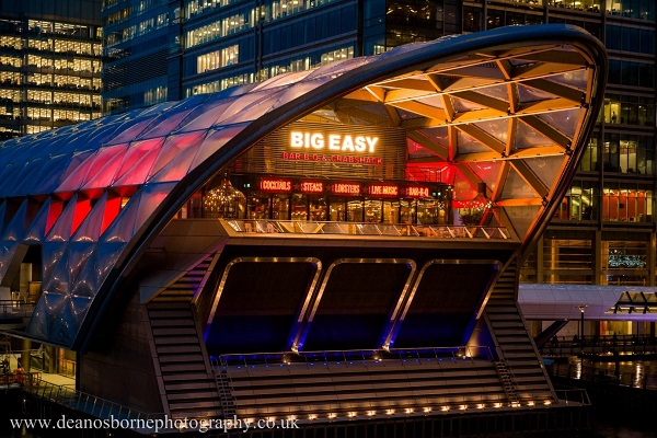400cover Big Easy BarBQ and Lobstershack Canary Wharf