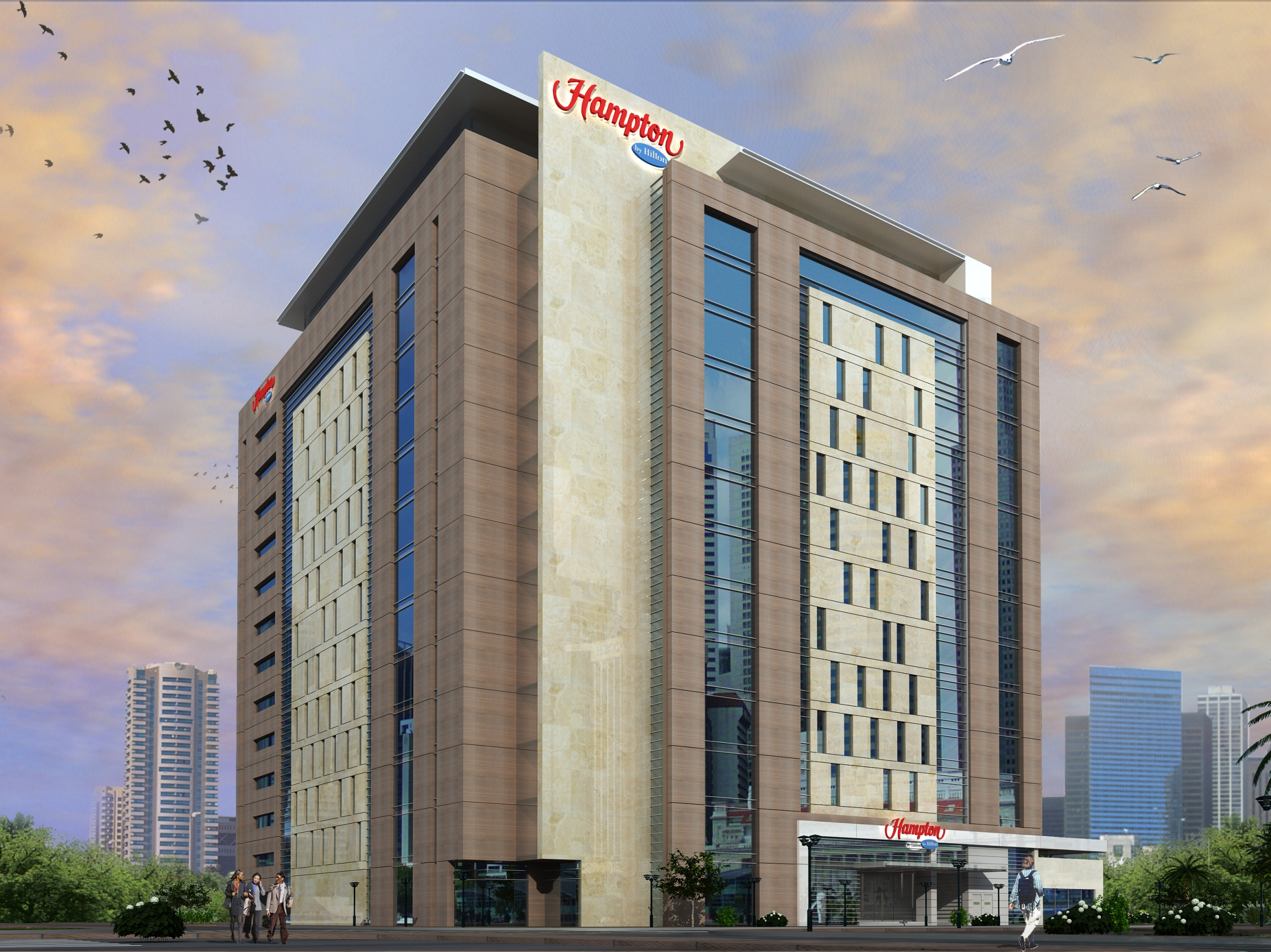 hampton by hilton wiring diagram 7 pin trailer socket uk world s largest opens in dubai hospitality net airport