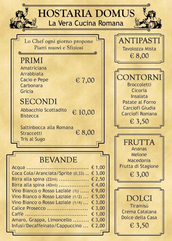 Hostaria Domus cucina tipica Romana