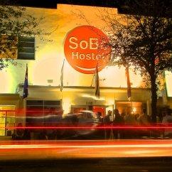 Pub Kitchen Table Storage Bins Sobe Hostel & Bar - Miami Beach, Florida Reviews Hostelz.com