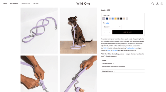 wild one product page
