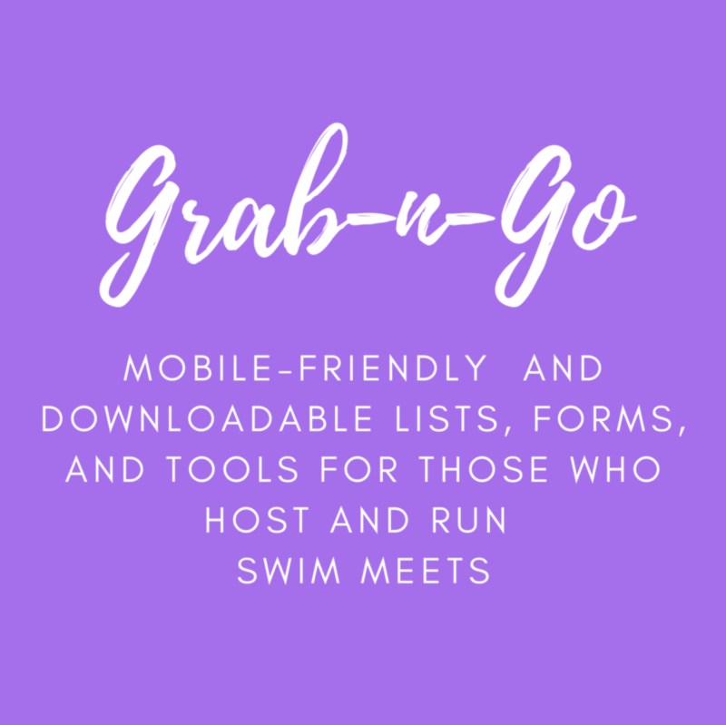 Mobile-friendly and downloadable resources for those who host and run swim meets