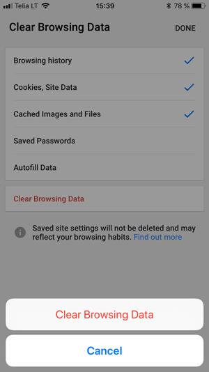 Cara Membersihkan Cache di Chrome (iOS)