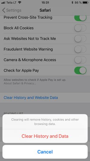 Cara Membersihkan Cache di Safari (IOS)