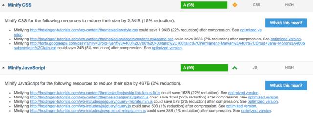 Minify CSS JS sebagai cara mempercepat WordPress