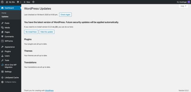 Pembaruan WordPress