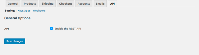 woocommerce settings api tab