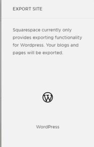 Exporting Squarespace to WordPress platform