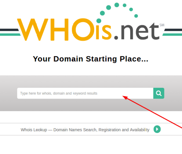 Whois Net Search Panel