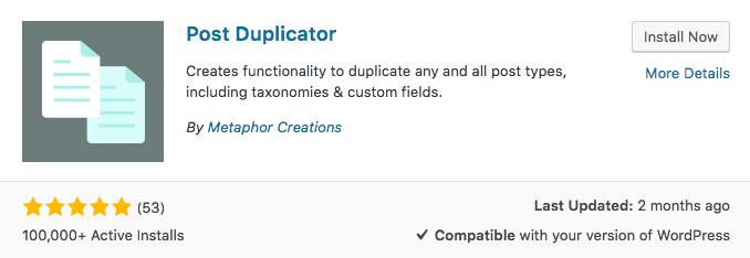 WordPress Post Duplicator