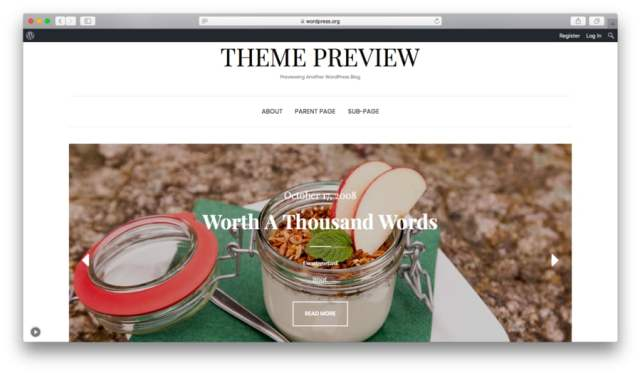 Preview of the free Elara WordPress theme