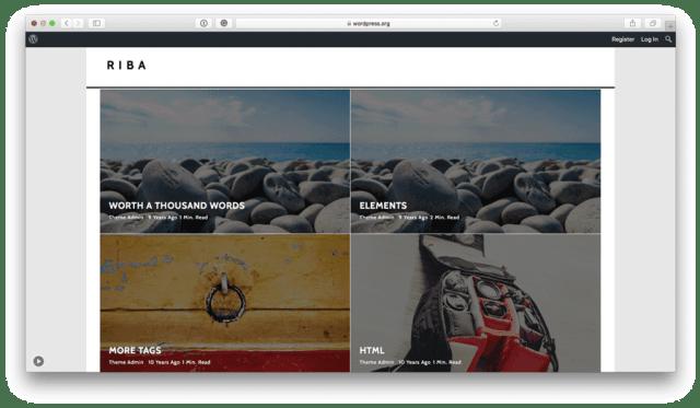 Riba Lite free WordPress theme preview