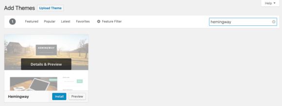Halaman pencarian tema WordPress