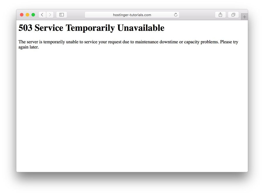 How to Debug and Fix 503 Service Unavailable Error in WordPress