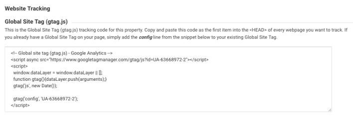 Tip SEO WordPress - menambahkan kode pelacakan situs web google analytics
