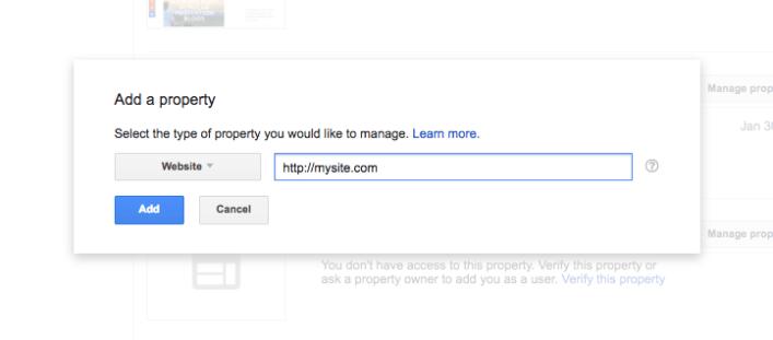 konsol pencarian google menambahkan properti