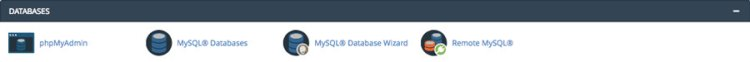 cPanel database management features