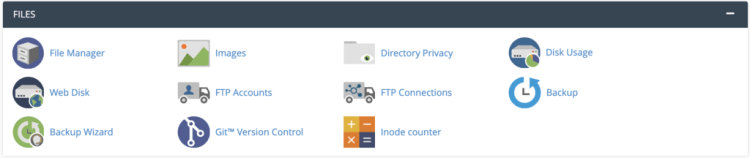 cPanel file management features